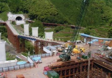 第二東名高速道路 島田第一トンネル工事