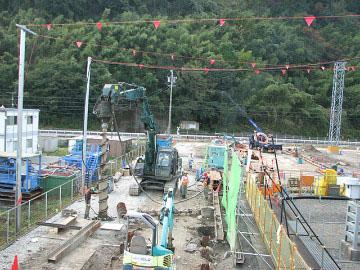 駿河変電所工事