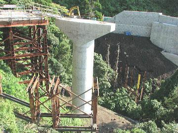 伊豆大島五郎川橋(下部工)工事